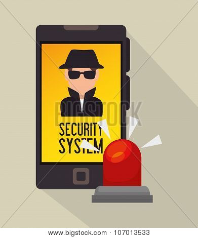Surveillance security system graphic design, vector illustration eps10 poster
