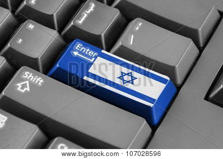 Enter Button With Israel Flag