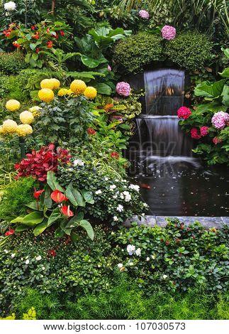 Gorgeous three-stage fountain