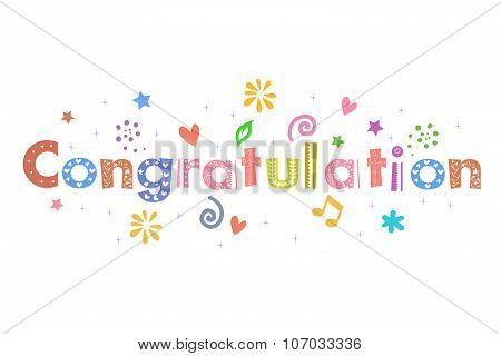 Congratulation Text Message for greeting card design poster