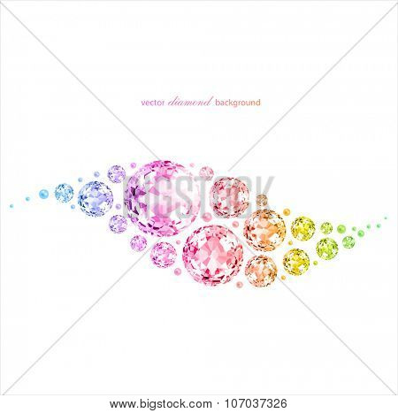 Colorful abstract background with gemstones