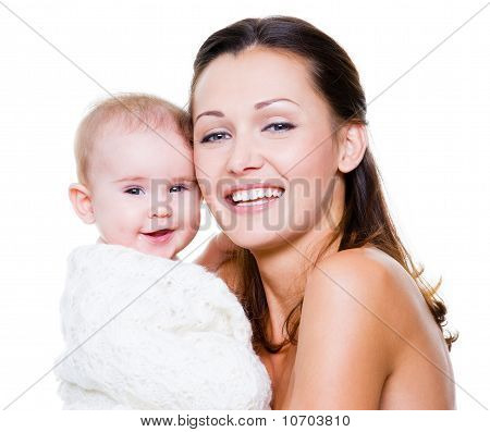 Happy Mother With Smiling Baby