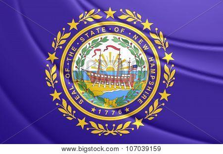 Flag Of New Hampshire, Usa.