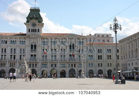 The City Hall, Historic Building On Pizza Dell Unita D Italia