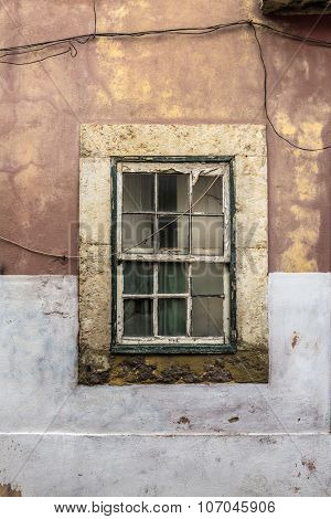 Old rustic window in a old house