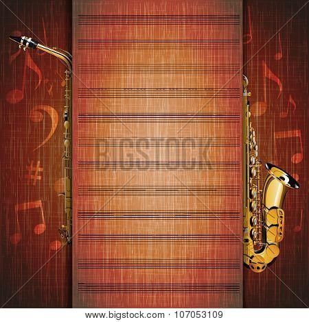 Musical Background Saxophone Frame