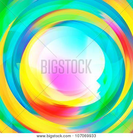 Abstract Rainbow Vortex Text Holder