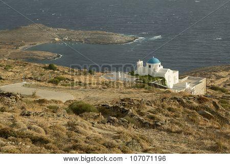 Island Church And Bay