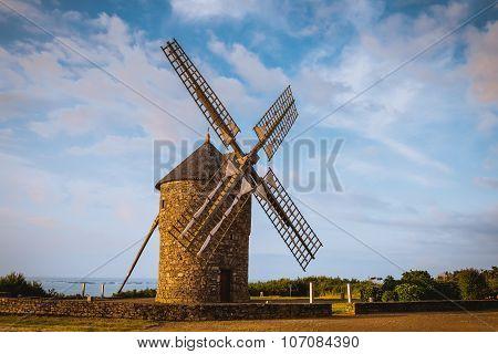 old Dol de Bretagne windmill Brittany France
