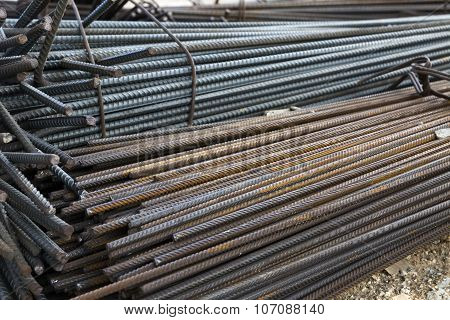 steel reinforcement for concrete structures and construction poster