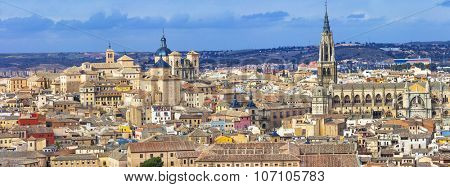 panorama of medieval Toledo. Spain
