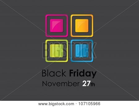 colored black friday background with special design elements