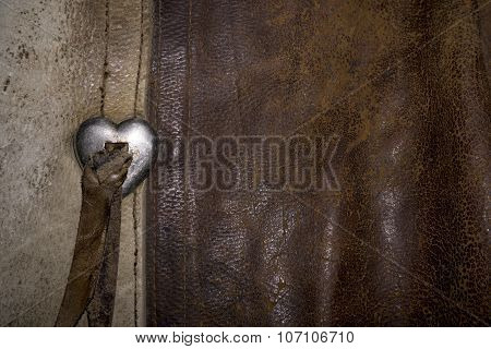 Western Leather Chaps with Silver Heart