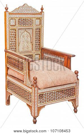 Old Vintage Antique Wooden Chair Isolated