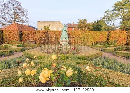 Traveling in the famous Rosenborg Slot Copenhagen around Autumn season poster