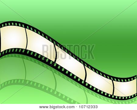 Film Strip On Green