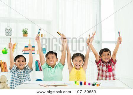 Enthusiastic Classmates