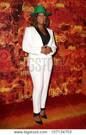 LOS ANGELES - SEP 20:  Queen Latifah at the HBO Primetime Emmy Awards After-Party at the Pacific Design Center on September 20, 2015 in West Hollywood, CA
