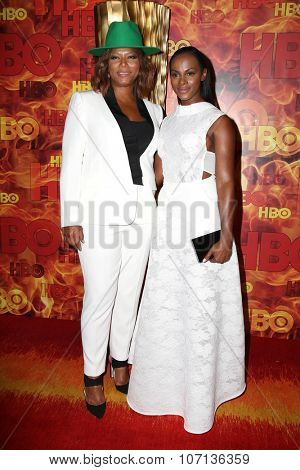 LOS ANGELES - SEP 20:  Queen Latifah, Tika Sumpter at the HBO Primetime Emmy Awards After-Party at the Pacific Design Center on September 20, 2015 in West Hollywood, CA