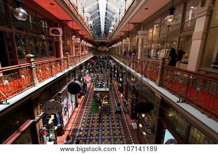 Sydney Australia - March 19 2015: the Strand Arcade in the middle of a busy day in Sydney.
