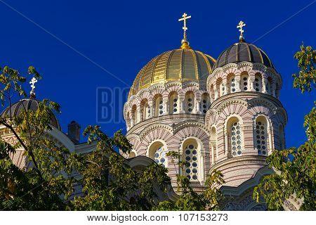 Domes Nativity of Christ Cathedral, Riga, Latvia