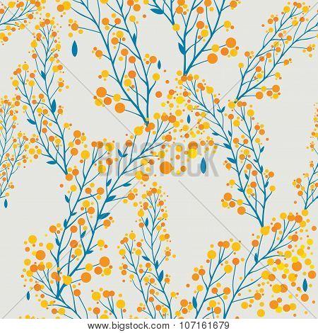 Autumn pattern in retro style.