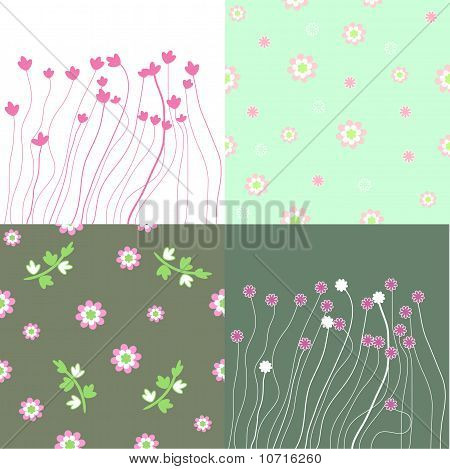 The Background Seamless Floral.