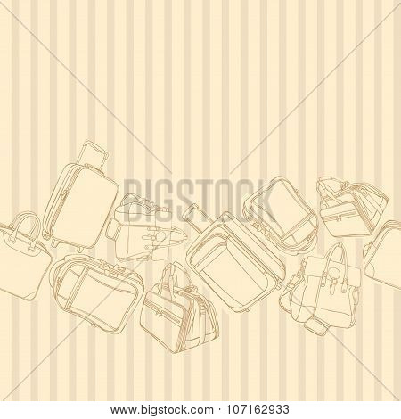 vector background with shopping bag. Vector illustration. Seamless pattern.
