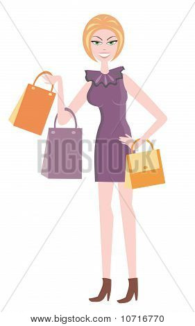 The Beautiful Girl With Buying.