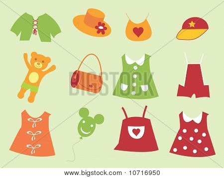 The Set Of The Baby Cloth.