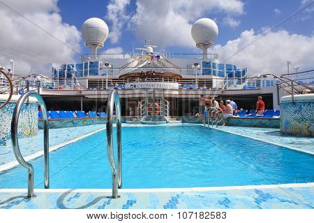Crown Princess Ship Deck
