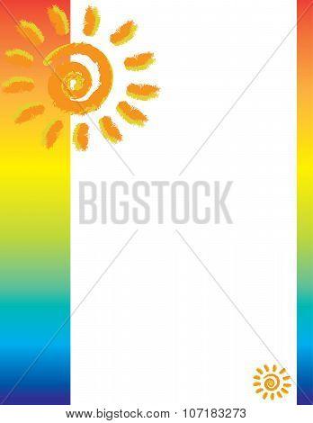 Tropical Sun Border