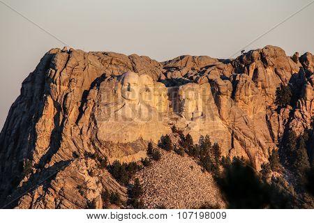 Sunset over Mount Rushmore Memorial