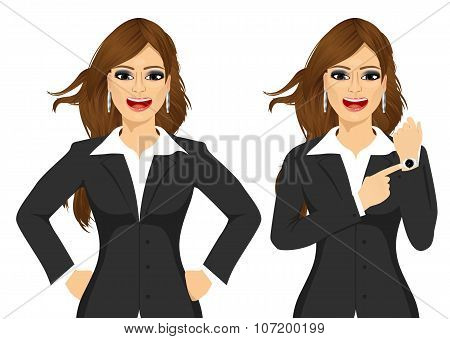 Two angry businesswomen