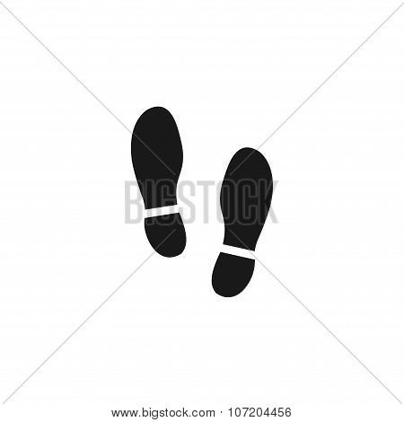 Imprint soles shoes icon.shoes print icon.vector illustration. poster