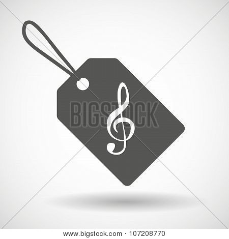 Label Icon With A G Clef