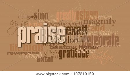 Praise Christian word montage