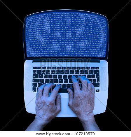 Binary Coding On The Laptop