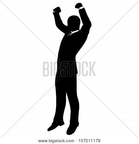 Businessman Silhouette In Gorilla Posev