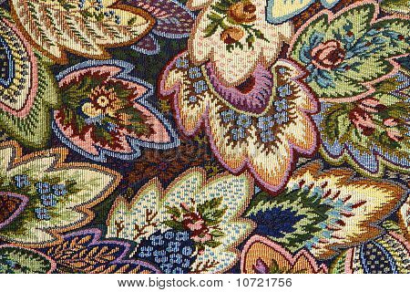 Pattern Of Ornate Floral Tapestry