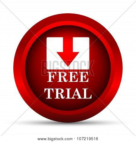 Free trial icon. Internet button on white background. poster