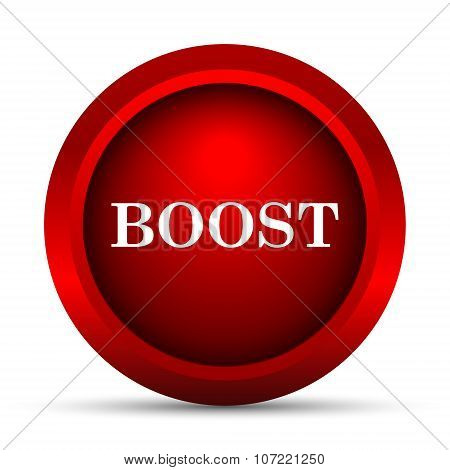 Boost icon. Internet button on white background. poster