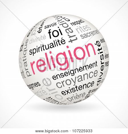 French Religion Theme Sphere With Keywords