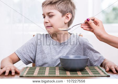 Refusing To Eat Disgusting Food