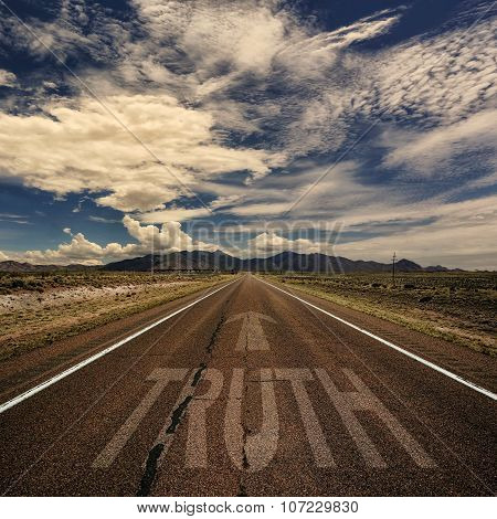 Conceptual Image Of Road With The Word Truth