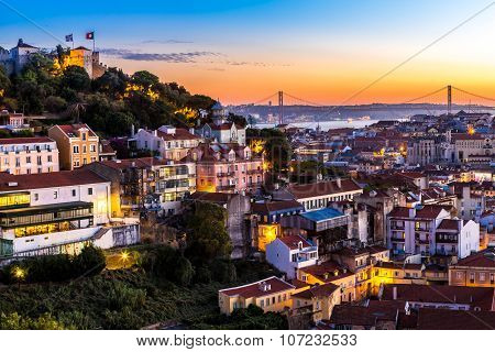 Lisbon At Nigth