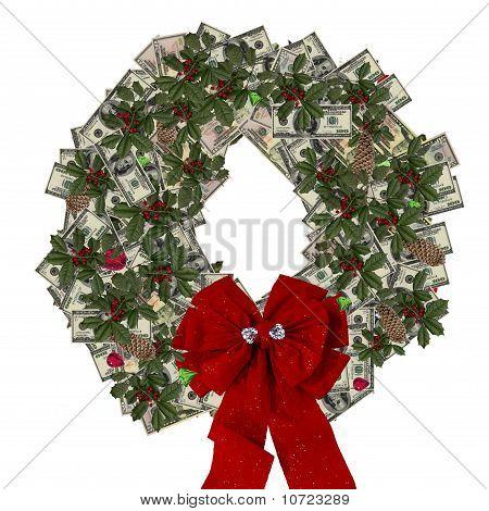 Christmas Money And Gem Wreath