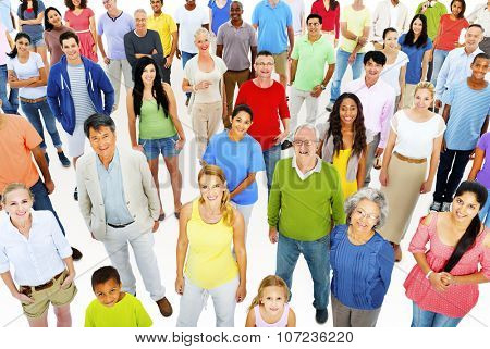 Large Group People Working Team Diverse Ethnic Concept