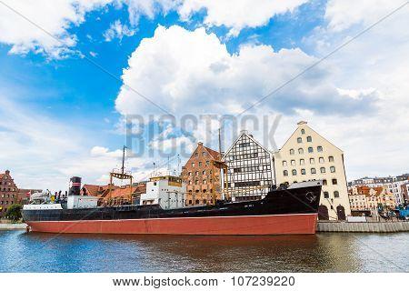 Ss Soldek On Motlawa River In Gdansk