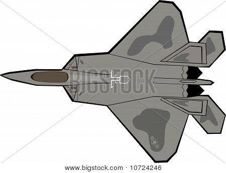 F-22 Raptor warplane, the most advance aircraft with stealth technology poster